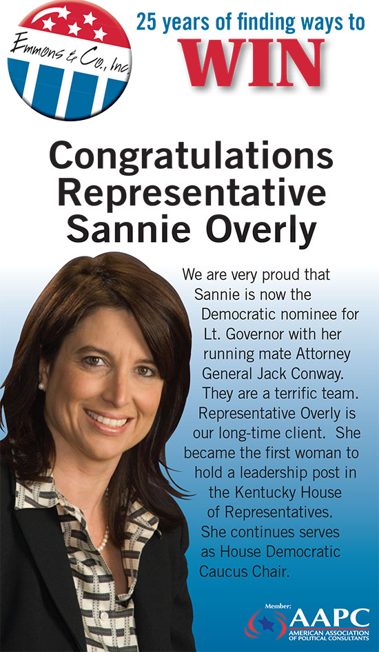 Congratulations Representative Sannie Overly